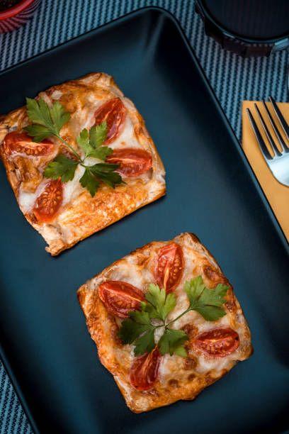 Домашняя быстрая мини-пицца из Лепешек с сыром